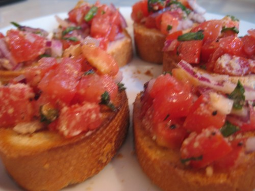 yummy bruschetta!