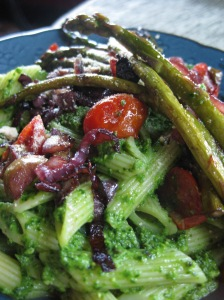 Spinach Pesto and Asparagus